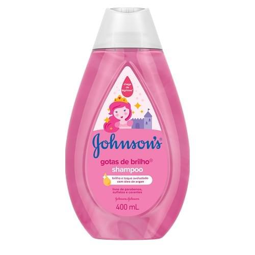 Imagem de Shampoo infantil johnson johnson 400ml gotas de brilho unit