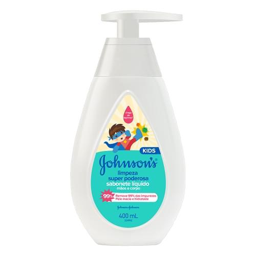 Imagem de Sabonete líquido infantil johnson johnson 400ml limpeza super poderosa
