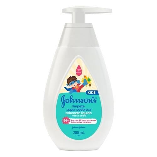 Imagem de Sabonete líquido infantil johnson johnson 200ml limpeza super poderosa