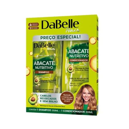 Imagem de Kit sh + co dabelle 200ml abacate nutritivo