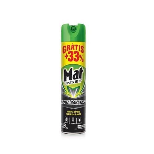 Imagem de Inseticida aerosol mat inset 360ml mata baratas promocional