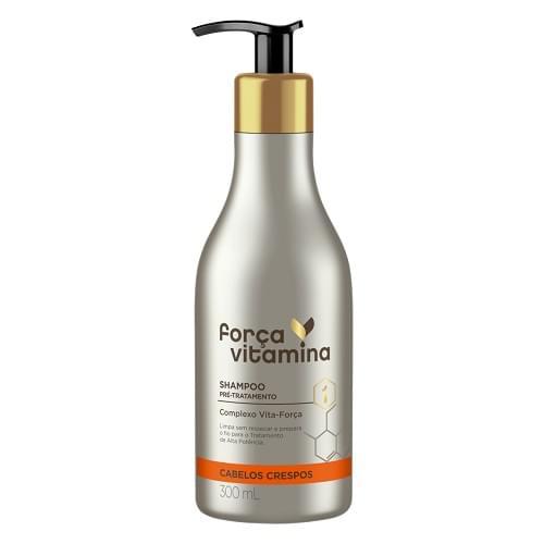 Imagem de Shampoo uso diário força vitamina 300ml crespo