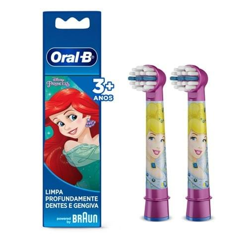 Imagem de Escova dental eletrica oral-b c/2 kids princesas refil