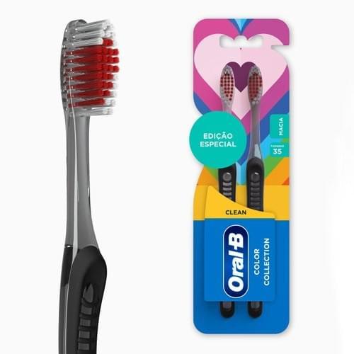 Imagem de Escova dental macia oral-b c/2 clean color collection