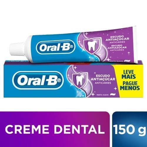 Imagem de Creme dental tradicional oral-b 150g anti- açúcar