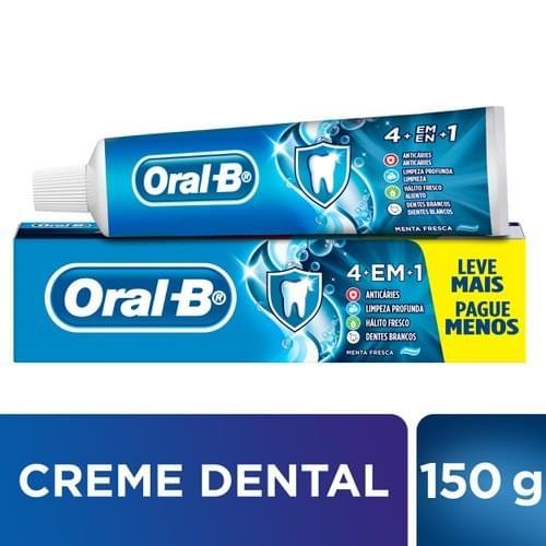 Imagem de Creme dental tradicional oral-b 150g 4 em 1