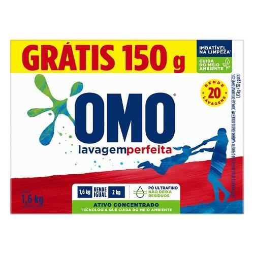 Imagem de Detergente em pó omo lv1.6 pg1.450kg lavagem perfeita cx