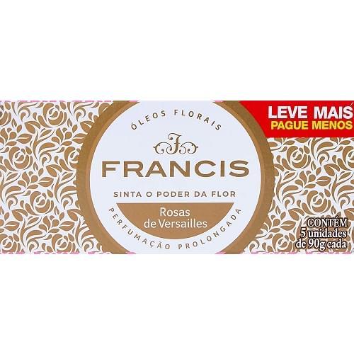 Imagem de Sabonete em barra uso diário francis 90g clássico branco c/5 lv+pg-