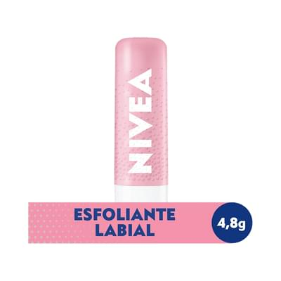 Imagem de Protetor solar labial nivea 4,8g esfoliante rosa mosqueta