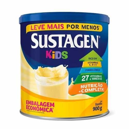 Imagem de Suplemento alimentar lata sustagen kids 900g baunilha