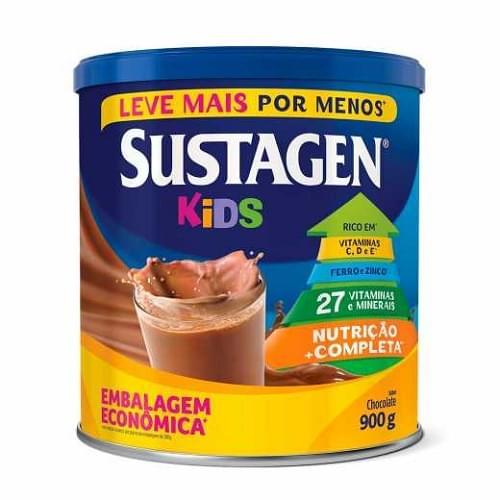 Imagem de Suplemento alimentar lata sustagen kids 900g chocolate