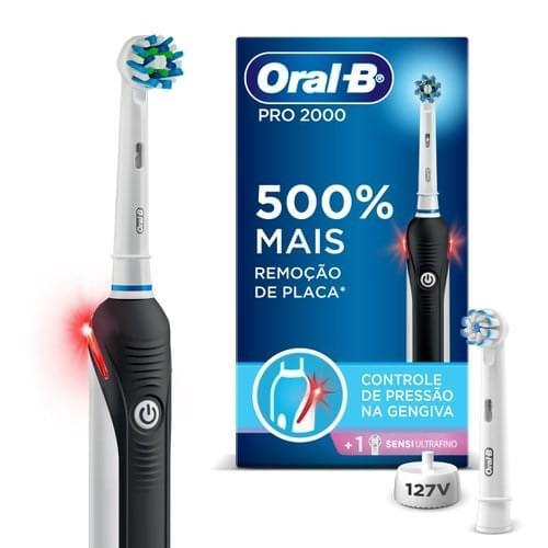 Imagem de Escova dental eletrica oral-b recarregável 3766 pro 2000 127v