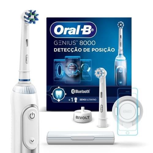 Imagem de Escova dental eletrica oral-b recarregável genius 8000 bivolt