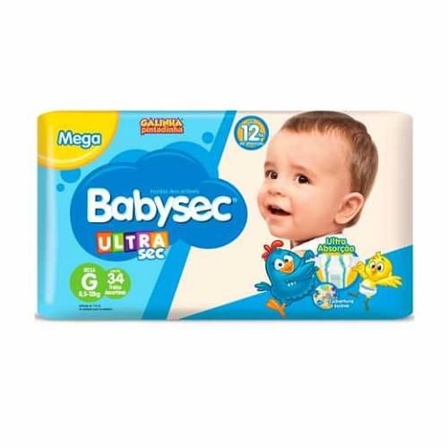 Imagem de Fralda infantil babysec c/34 ultra mega g