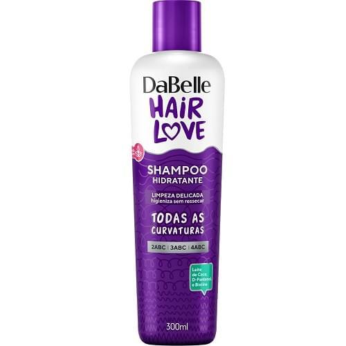 Imagem de Shampoo uso diário dabelle 300ml hair love hidratante