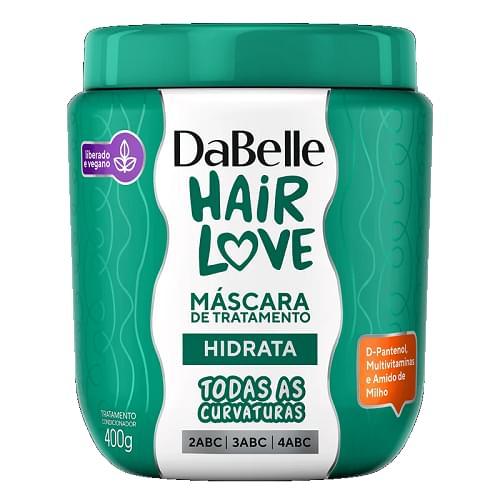 Imagem de Creme tratamento dabelle 400g hair love hidrata