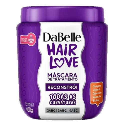 Imagem de Creme tratamento dabelle 400g hair love reconstrói