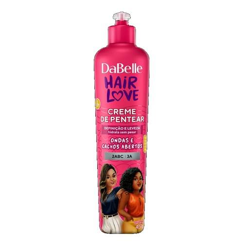 Imagem de Creme para pentear dabelle 400g hair love ondas cachos ab