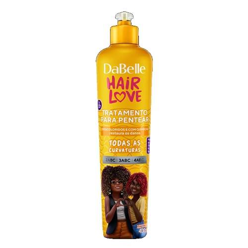 Imagem de Creme para pentear dabelle 400g hair love descoloridos