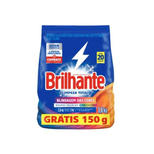 Imagem de Detergente em pó brilhante lv1.6pg1.450kg limpeza total  pacote