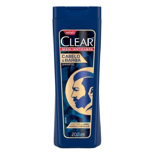 Imagem de Shampoo anti caspa clear 200ml cabelo e barba