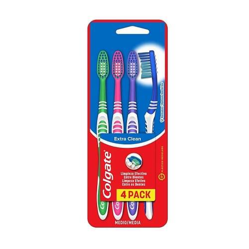 Imagem de Escova dental média colgate c/4 extra clean pc