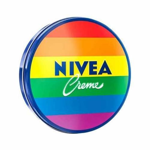 Imagem de Creme hidratante nivea 56g lata orgulho arco iris