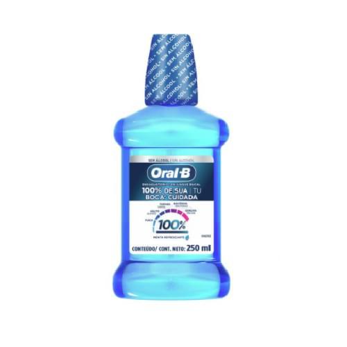 Imagem de Enxaguatório antisséptico oral-b 250ml 100% menta refrescante
