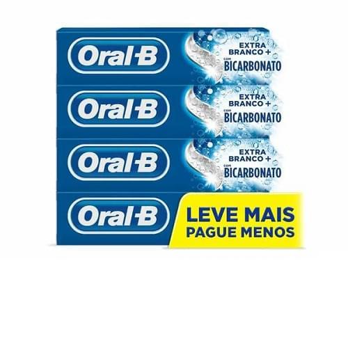 Imagem de Creme dental tradicional oral-b 70g c/4 extra branco lv+pg-
