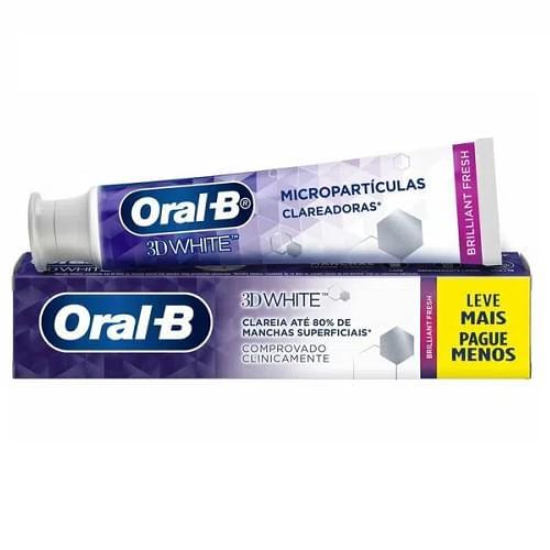 Imagem de Creme dental tradicional oral-b 140g 3d white brilliant fresh lv+pg-