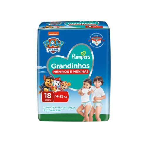 Imagem de Fralda infantil pampers pants c/18 grandinhos