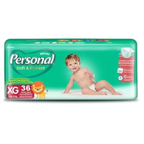 Imagem de Fralda infantil personal c/36 soft & protect extra grande pc