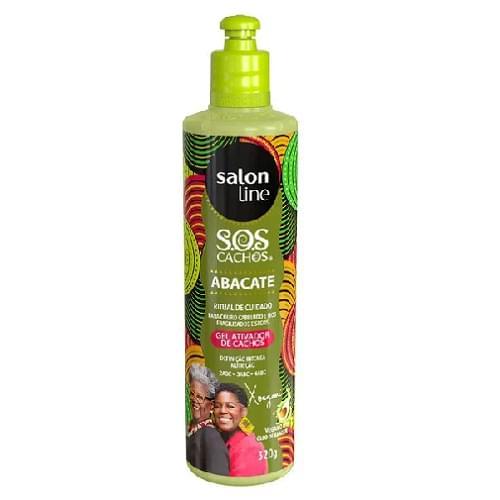 Imagem de Gel uso diário salon line 320ml ativador de cachos sos abacate