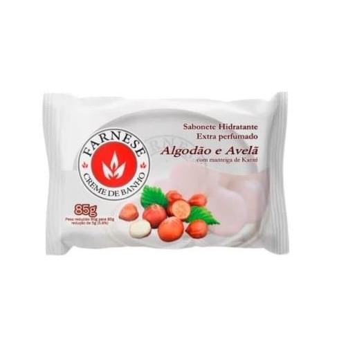 Imagem de Sabonete em barra uso diário farnese 85g algodão e avelã