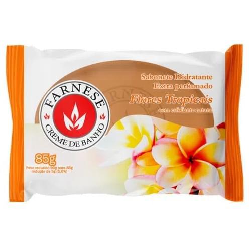 Imagem de Sabonete em barra uso diário farnese 85g flores tropicais