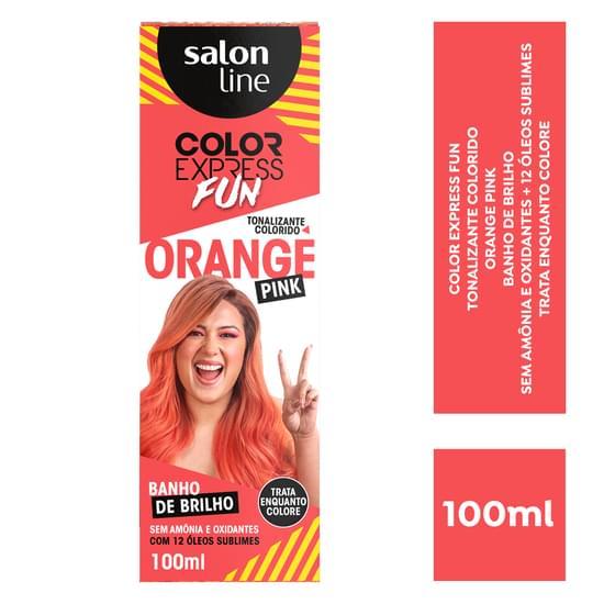 Imagem de Tintura semi permanente color express 100ml fun orange pink