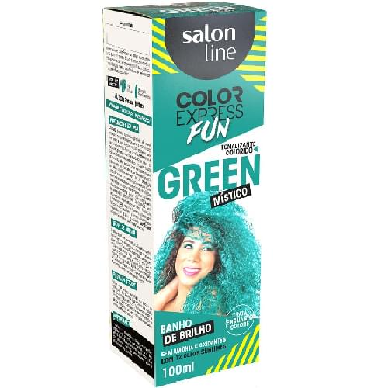 Imagem de Tintura semi permanente color express 100ml fun green místico