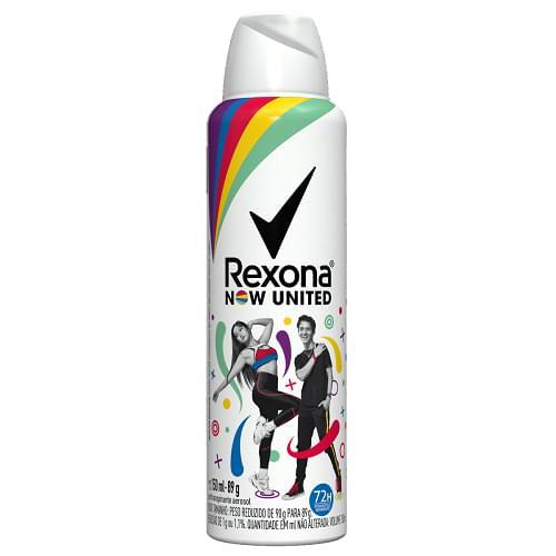 Imagem de Desodorante aerosol rexona 150ml nowed novo