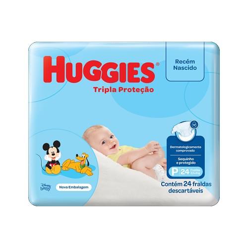 Imagem de Fralda infantil huggies c/24 tripla proteção jumbinho p pc