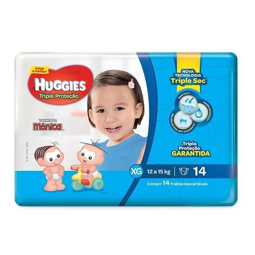 Imagem de Fralda infantil huggies c/14 tripla proteção jumbinho xg pc
