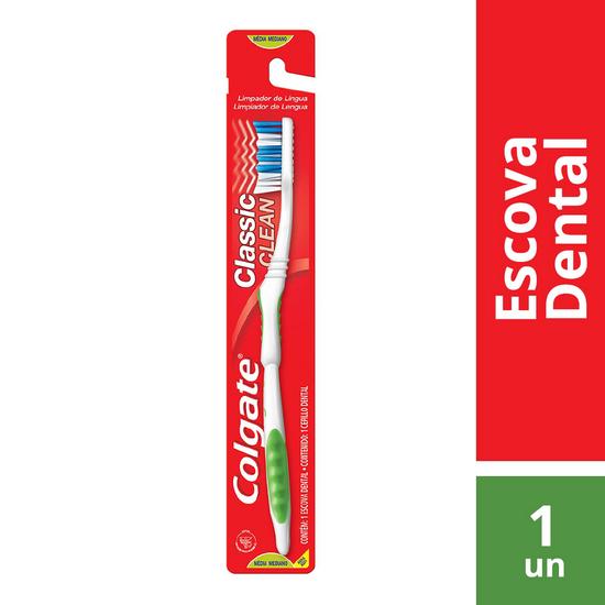 Imagem de Escova dental macia colgate classic