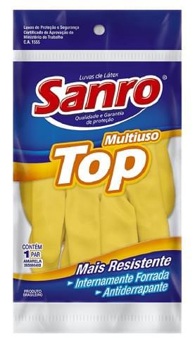 Imagem de Luva uso geral sanro top amarela m