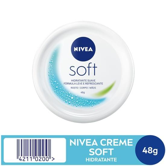 Imagem de Creme hidratante nivea 49g soft pote