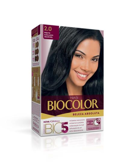 Imagem de Tintura permanente biocolor 2.0 preto azulado