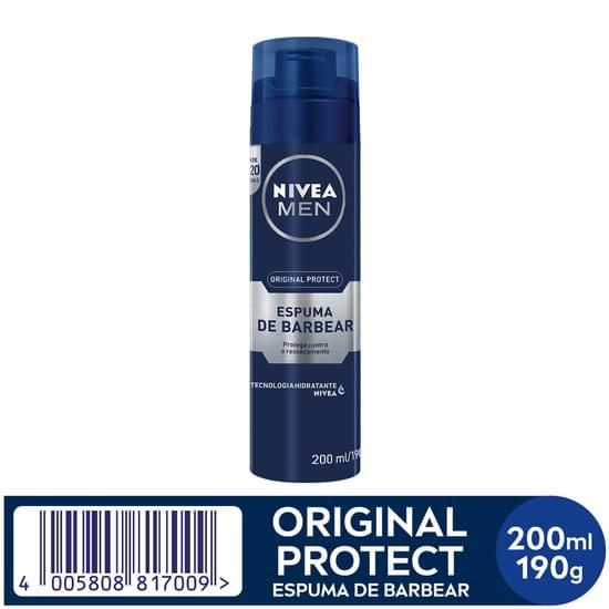 Imagem de Espuma de barbear em tubo nivea 195g hidratante