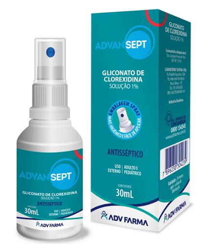 Imagem de Advansept gliconato de clorexidina 1% 30ml adv farma