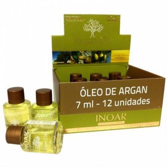 Imagem de Argan oil display 12 unidades de 7 ml inoar