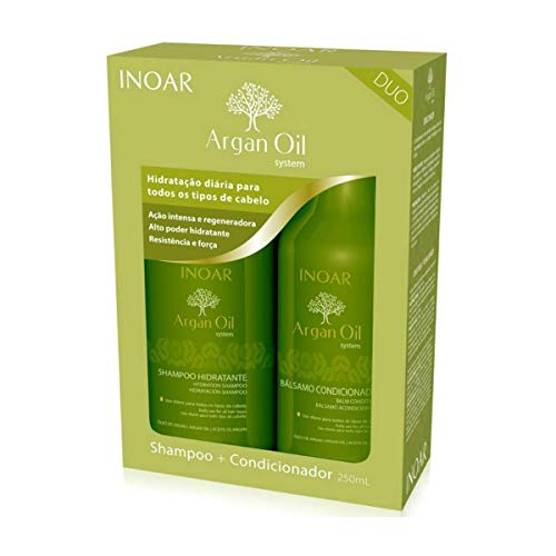 Imagem de Kit duo argan oil shampoo + condicionador 250 ml inoar