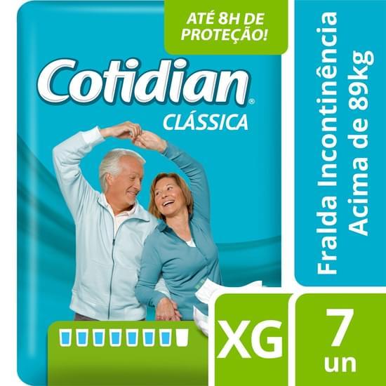 Imagem de Fralda  adulto cotidian clássica xg com 7 unids softys