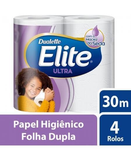 Imagem de Papel higienico folha dupla elite ultra 4 rolos de 30m softys
